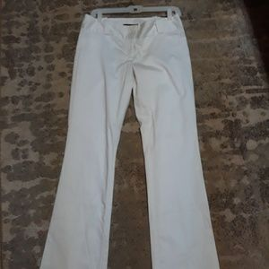 The limit size 6 white pants/black moon collection